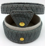 Needlepoint Lee Gift Box Leather Gray