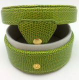 Needlepoint LEE Gift Box LEATHER Green