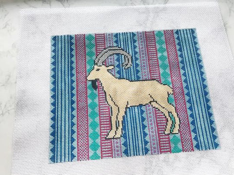 Needlepoint Handpainted Thorn Alexander ILSA the IBEX 10x8