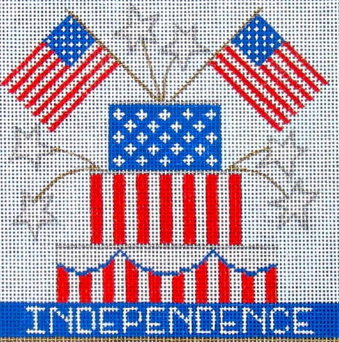 NEEDLEPOINT Handpainted Amanda Lawford INDEPENDENCE DC Designs 5x5