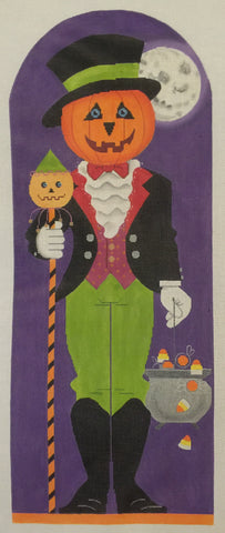 Needlepoint Handpainted Labors of Love HALLOWEEN Jack O Lantern 6x15