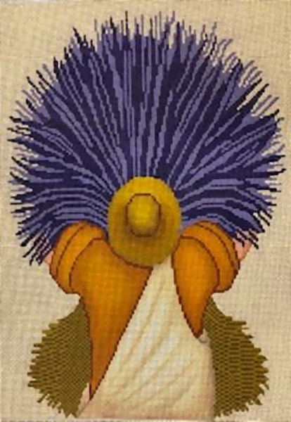 Needlepoint Handpainted Cooper Oaks Lavender Man 10x14