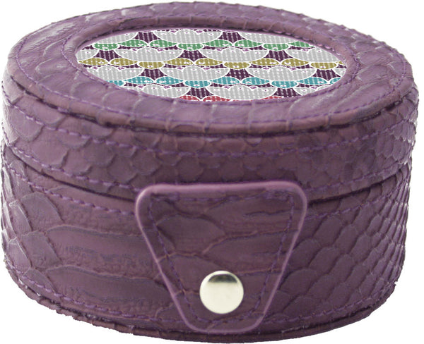Needlepoint LEE Gift Box LEATHER Purple