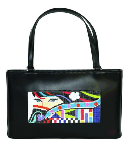 Lee Leather Purse Classic Handbag for Needlepoint Canvas