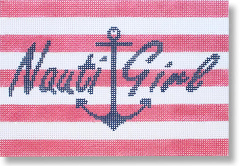 NEEDLEPOINT Handpainted Starke Art BEACH Nauti Girl 9x6