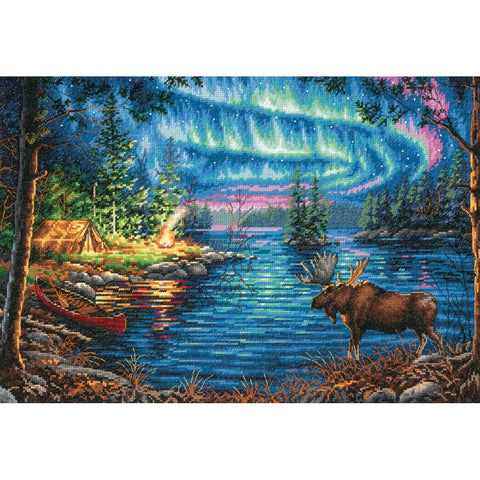 Counted Cross Stitch Dimensions Gold Kit NORTHERN Night 16x11