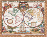 COUNTED CROSS STITCH Janlynn Kit OLDE WORLD MAP 18x15