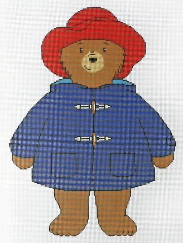 Needlepoint Handpainted Christmas PADDINGTON Silver Needle 10x16