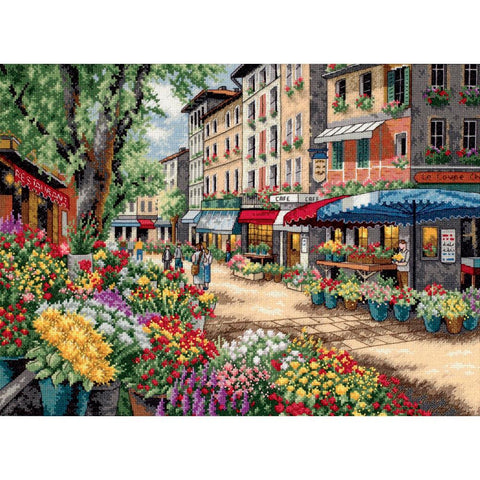 COUNTED CROSS STITCH Dimensions Kit PARIS Market 15x11