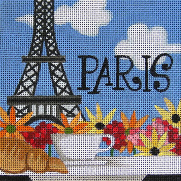 NEEDLEPOINT Handpainted Raymond Crawford PARIS 5x5