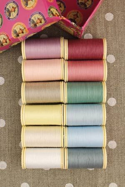 Patchwork THREAD Fil au Chinois #2 PASTEL Tones Asst Set of 12 w/Box