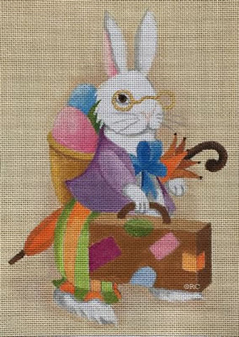 Needlepoint Handpainted Raymond Crawford PETER Cottontail EASTER 7x9