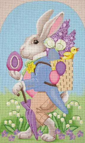 Needlepoint Handpainted EASTER Bunny PETER Labors of Love 11x18