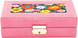 Needlepoint LEE Jewelry Case LEATHER Pink