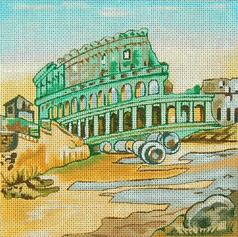 Needlepoint Handpainted Rome TRUBEY 7x7