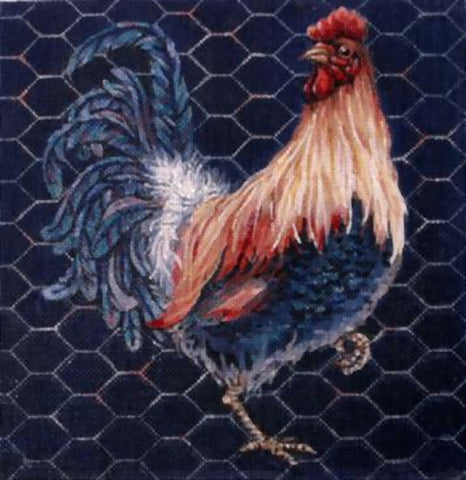 Needlepoint Handpainted Share Ones Ideas Rooster 10x10