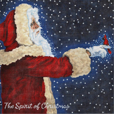 Needlepoint Handpainted Spirit of Christmas CBK 10x10
