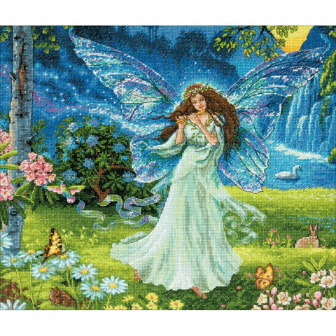 Counted Cross Stitch Dimensions Gold Kit SPRING FAIRY 14x12