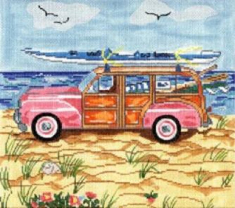 Needlepoint HandPainted Cooper Oaks Summer Woody 9x9