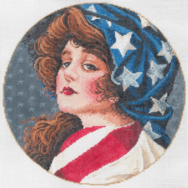Needlepoint Handpainted Canvas SANDRA GILMORE Sweet Liberty 8""