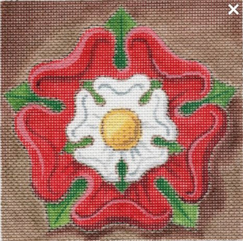 NEEDLEPOINT Handpainted Labors of Love TUDOR Rose 5x5