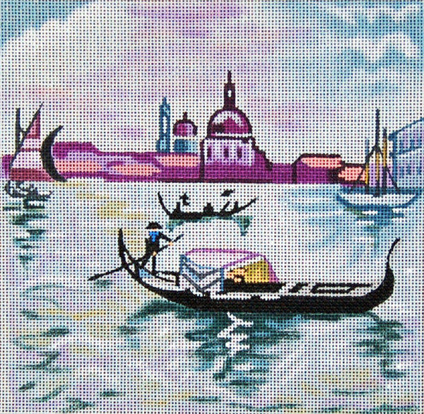 Needlepoint Handpainted Venice TRUBEY 7x7