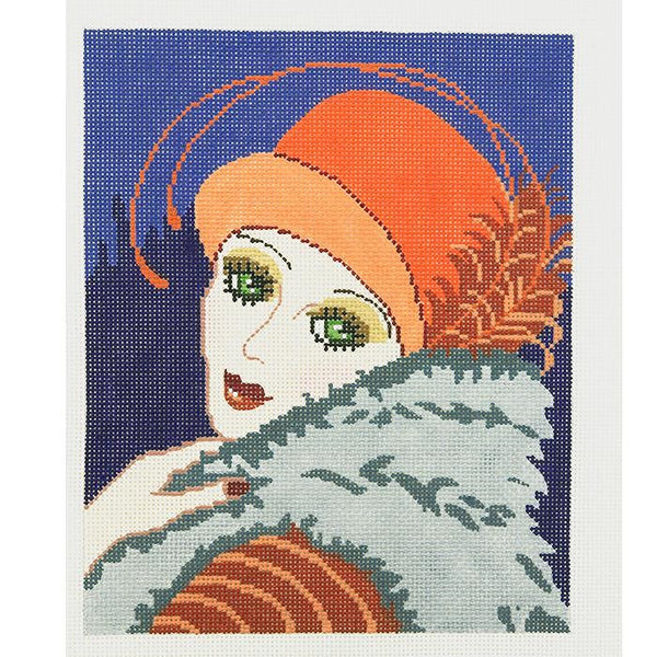 Needlepoint Handpainted Lee Vogue Vamp 8x10