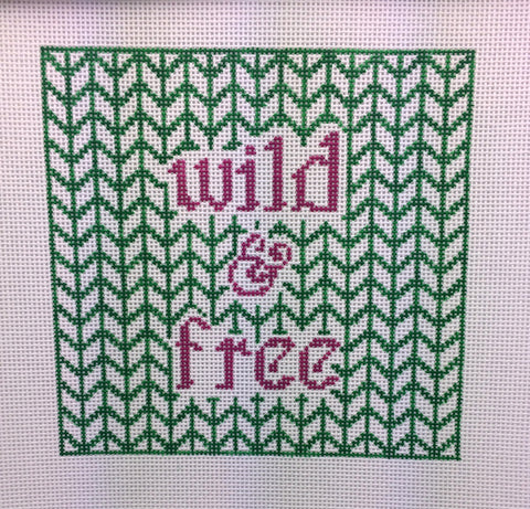 NEEDLEPOINT Handpainted Tess Thorn Alexander WILD and FREE 7x7
