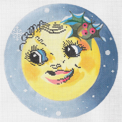 Needlepoint Handpainted Canvas JOY JUAREZ Christmas Winter SUN Ornament