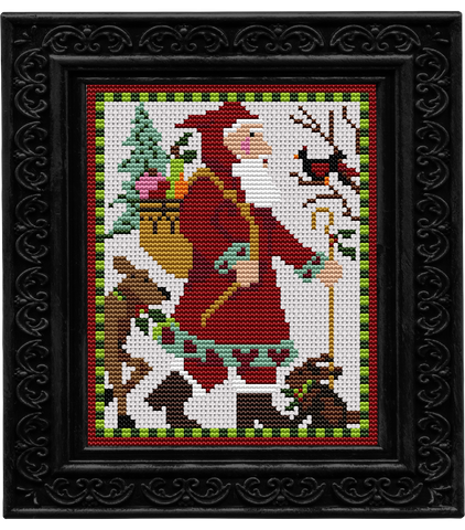 Counted Cross Stitch Kit WOODLAND MINI SANTA Creative Needle Arts