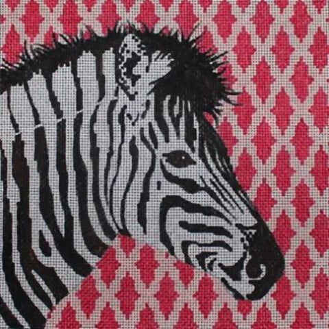Needlepoint Handpainted Colors of Praise Zebra 14x14