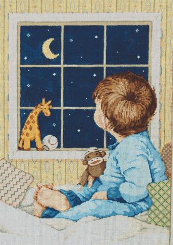 NEEDLEPOINT HANDPAINTED Canvas Sandra Gilmore Boy EASTON Child