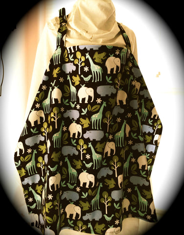 Nursing Cover - Giraffe & Elephant