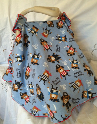 Infant Car Seat Cover - Shiver Me Timbers