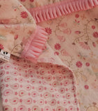 Infant Car Seat Cover - Small Pink Flowers