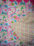 Infant Car Seat Cover - Pink Paisley