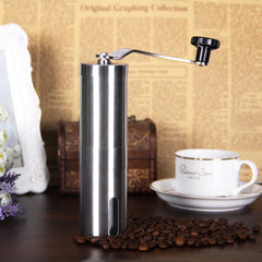 Purposefull Coffee Lovers Gift Set - Manual Coffee Bean Grinder + Measuring Spoon Clip + Cleaning brush + Black Cloth Carry Case