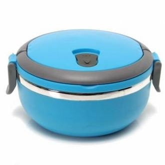 Purposefull Stainless Steel Lunch Box - Keeps Lunch Hot or Cold - Food Container - School lunch set - modern Tiffin box - 700ml - BLUE
