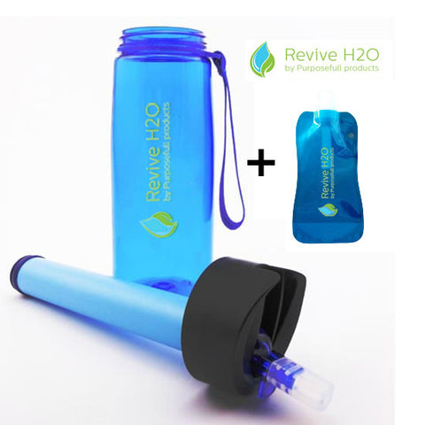 Revive H2O All Purpose Filter Water Bottle - Filters 1500 litres