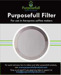 Purposefull Filter - Aeropress Stainless Steel Metal Coffee Filter - Fine Mesh
