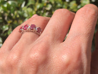 925 Sterling Silver 2 1/2 Carat Ruby & Diamond Ring