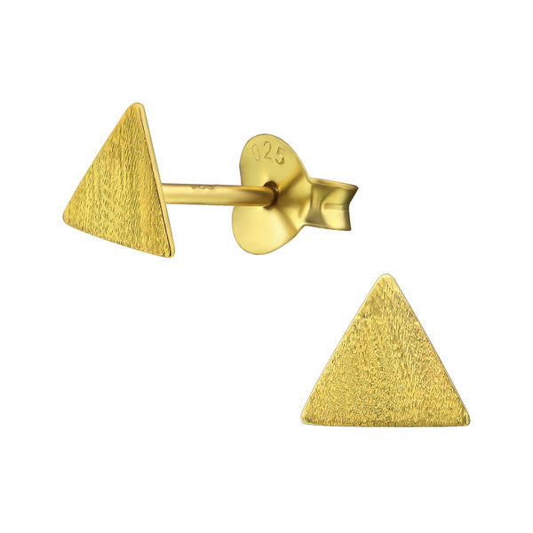 Silver Triangle Ear Studs