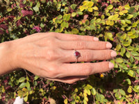 925 Sterling Silver 3 3/4 Carat Enchanced Genuine Ruby Ring