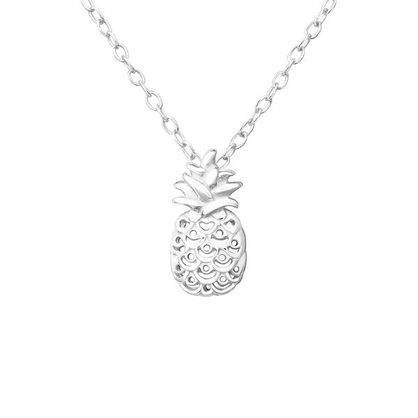 Silver Pineapple Necklace