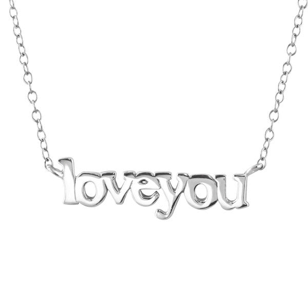 Silver Loveyou Necklace