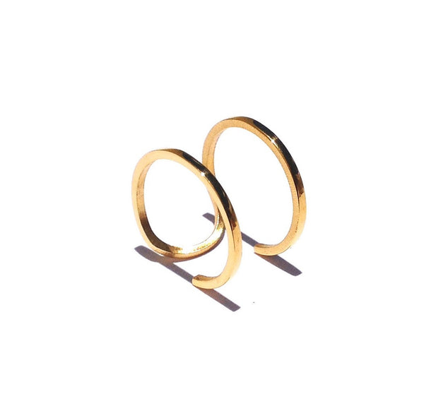 Gold Steel Minimalist Ring