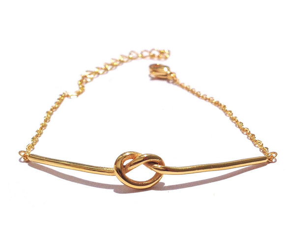 Gold Steel Knot Woman Bracelet