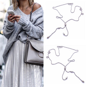 Stainless Steel Simple Long Woman  Necklace