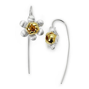 TWO-TONE COUTURE FLOWER BLOSSOM EARRINGS