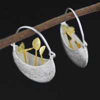 925 Sterling Silver Flowers and Butterfly Earrings